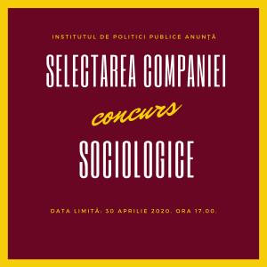 anunt compania socilogica