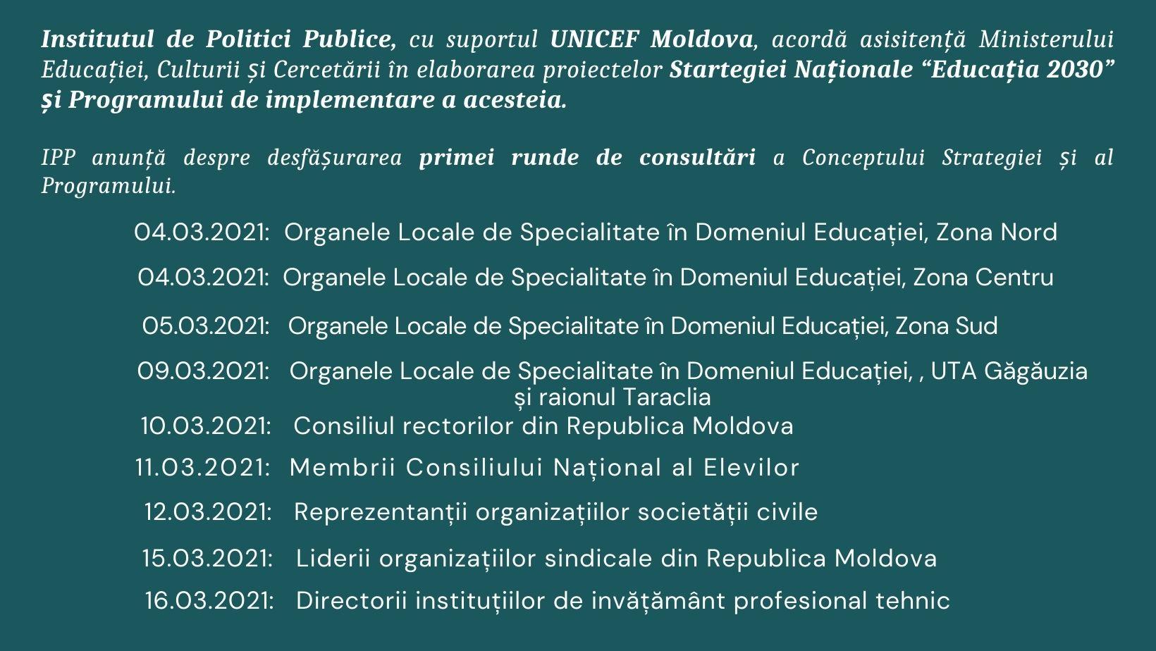 04.03.2021_ Organele Locale de Specialitate în Domeniul Educației, Zona Centru