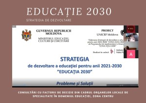 Consultări cu factorii de decizie din cadrul Organelor Locale de Specialitate în Domeniul Educației, Zona Nord (1)